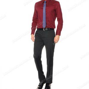 Đồng phục áo sơ mi nam công sở màu đỏ.