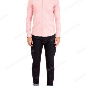 Mẫu đồng phục áo sơ mi nam công sở màu hồng