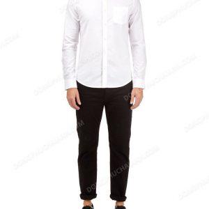 Mẫu đồng phục áo sơ mi nam công sở màu trắng