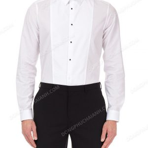 Đồng phục áo sơ mi nam công sở màu trắng