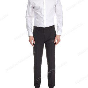 Mẫu đồng phục áo sơ mi nam công sở màu trắng.