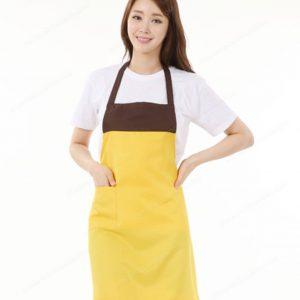 đồng phục nhân viên nữ áo phông tạp dề