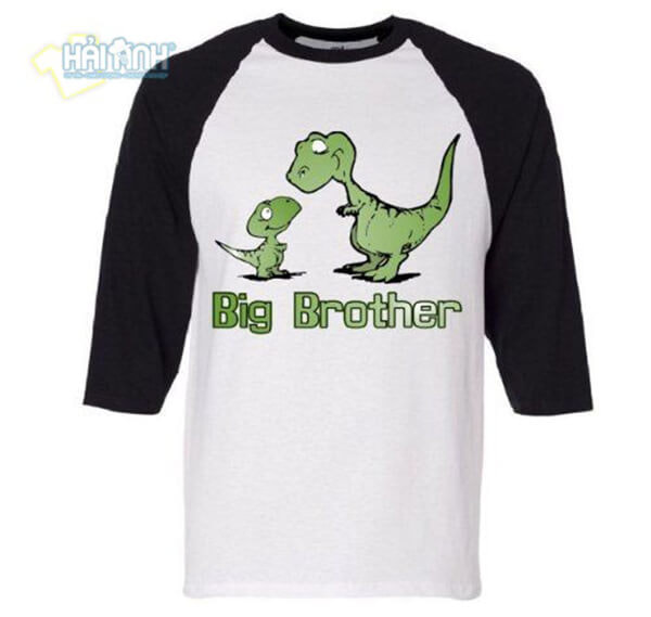 "Áo lớp raglan slogan ""Big Brother"""